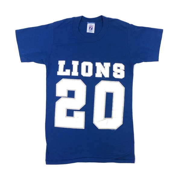 12ff4f3a541 Logo 7 Shirts | Vintage 90s Detroit Lions Barry Sanders Single Tee ...